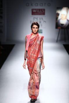 Summer Sari | Akaaro by Gaurav Jai Gupta sari  I think the drape looks weird, but I like the madras type pattern