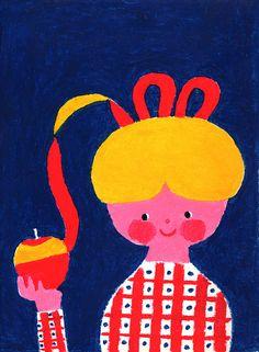 あまい香り by higuchi sakuya Adobe Photoshop, Cool Poster Designs, Retro Graphic Design, Kids Poster, Love Illustration, Thing 1, Beautiful Artwork, Cute Art, Painting Prints