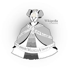 From a series of what some websites would look like as fancy dresses.