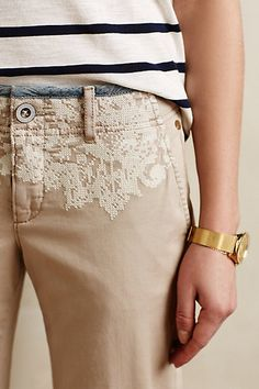 Pilcro Hyphen Embroidered Chinos