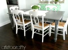 painted kitchen table - Google Search