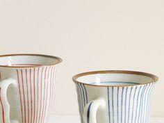 Beautiful striped teacups