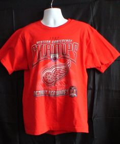 Items similar to 1997 Detroit Red Wings Western Conference Champs Stanley Cup Men's T-Shirt! on Etsy Red Wings Hoodie, Hockey Stanley Cup, Red Wing Logo, Wings Wallpaper, Diy Wings, Red Wing Shoes, Western Conference, Graphic Shirts, Retro Shirts