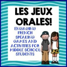 Speaking Games for FSL middle school, French Games for Middle School Study French, Core French, French Language Learning, Learn A New Language, Language Study, Language Lessons, Spanish Language, French Teacher, Teaching French