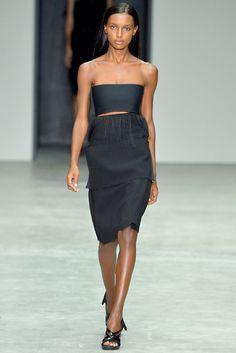 Calvin Klein Collection Spring 2014 Ready-to-Wear Fashion Show - Jasmine Tookes