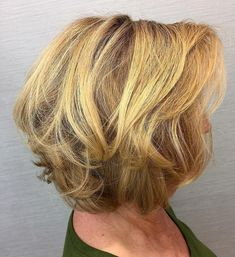 Golden Blonde Bob with Tousled Layers