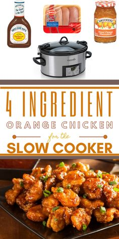 Easy Sweet & Tangy Crock Pot Orange Chicken & Sweet and tangy orange glaze covers delicious, bite-sized, tender morsels of& The post Easy Sweet & Tangy Crock Pot Orange Chicken Easy Chicken Recipes, Easy Healthy Recipes, Pork Recipes, Easy Dinner Recipes, Slow Cooker Recipes, Easy Meals, Cooking Recipes, Easy Crock Pot Meals, Easy Crockpot Recipes