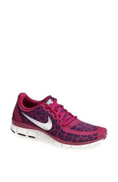 Nike Free 5.0 V4 Pink and Cheetah print