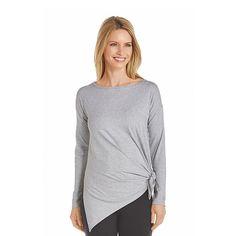 605a333ad5 Shop sun protective long sleeve tunic tee and UV tops for women.  Lightweight
