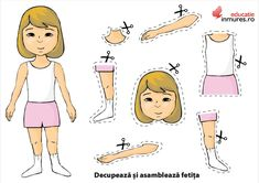 Fisa didactica cu partile corpului uman Bio Data, English Phonics, Nursery Activities, Busy Bags, Pictures To Draw, Body Parts, Human Body, Paper Dolls, Autism