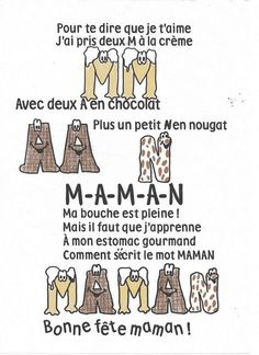 Pour te dire que je t'aime - Helin&FêteDesMères French Teaching Resources, Teaching French, Cadeau Parents, Mother's Day Activities, French Songs, Teaching Schools, French School, Fathers Day Crafts, Core French