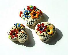 sugar skull beads by Linda Lawrence