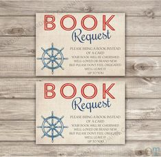 Book Request Insert Nautical Baby Shower Invitations by cardmint