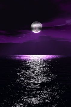 A full moon Lends its light To an aubergine world A casual hand Has swept blocks Of colour across the sky In tones Of indigo Violet Purple © Caro Ness 2016 Purple Love, All Things Purple, Shades Of Purple, Purple Sky, Deep Purple, Purple Stuff, 5 Things, Moon Pictures, Pretty Pictures