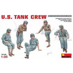 US Tank Crew WWII Plastic Model Kit 1/35 by MiniArt 35126 #MiniArt