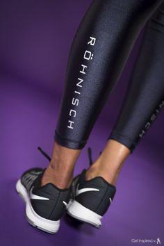 Röhnisch Liza Shiny Tights, stream | GetInspired.no Fitness Wear, Workout Wear, Pool Slides, Tights, Sandals, Health, Sports, How To Wear, Fashion