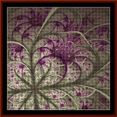 """Finished Sizes (approximate) 14 count: 21.5"""" x 21.5""""  18 count: 16.75"""" x 16.75""""  24 count: 12.5"""" x 12.5""""  Stitches: 300w x 300h  A fractal is a figure with repeating patterns containing shapes that are like the who"""