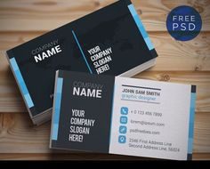Business Card Template Psd Free Download  Business Cards