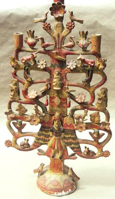 folk - antique mexican tree of life