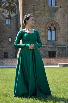 """Damisella Gonzaga"" silk dress"