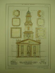 First Congregational Church , Danbury, CT, 1909, Howells & Stokes