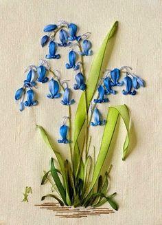 """#RibbonEmbroidery Милые сердцу штучки: Вышивка лентами: """"Весенний сад от Марины Жердевой ..."""