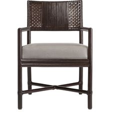 Buy Alameda Dining Arm Chair by McGuire Furniture - Quick Ship designer Furniture from Dering Hall's collection of Contemporary Dining Chairs.
