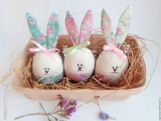 Пасхальный зайчик яйцо сувенир ручная работа Ярмарка мастеров Ольга Вайда