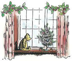 Classic Pooh Christmas illustration