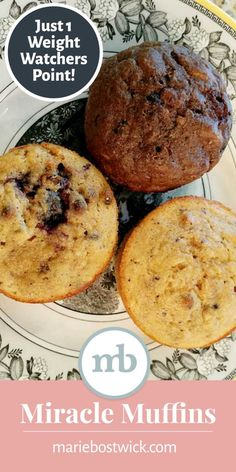 Weight watcher recipes 504332858274249355 - Miracle Muffins: Just One Weight Watchers Point Each! Weight Watchers Points, Weight Watchers Desserts, Weight Watchers Muffins, Weight Watchers Meal Plans, Weight Watchers Breakfast, Weight Watchers Diet, Ww Desserts, Healthy Desserts, Weight Watchers Banana Cake Recipe