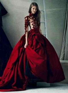 Elegant red wedding dresses high low Red Wedding Dress Pinterest Red wedding dresses Red wedding and Wedding dress