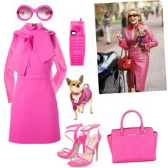 Legally blonde outfit #2 by jessicadelgadillo on Polyvore featuring polyvore, fashion, style, MSGM, J.Crew, Carvela, Michael Kors, Moschino, Oliver Goldsmith and UrbanPup