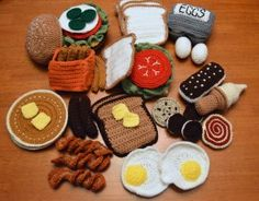 FO Friday – Crochet Play Food – A Little of This and a Little of That Toys Patterns play food Crochet Fruit, Crochet Food, Crochet Kitchen, Crochet Gifts, Crochet For Kids, Crochet Baby, Knit Crochet, Food Patterns, Crochet Toys Patterns