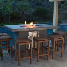 urban islands bar height fire table by bull outdoor products