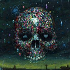 Jeff Soto. Jewel Skull. http://jeffsotoart.blogspot.com/