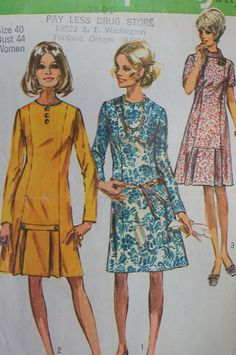 Vintage Dress Pattern Simplicity 9038 Size 40 by strangenotions, $6.00