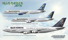 https://flic.kr/p/FHSNUi | IRON MAIDEN ED FORCE ONE JETS G-OJIB G-STRX TF-AAK AIRLINER ART | Airliners Illustrated® by Nick Knapp©. www.AirlinersIllustrated.com