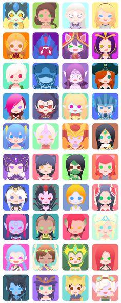 40 Female League Champ icons! - Imgur
