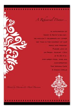 Royal Red - Corporate Invitations by Invitation Consultants. (Item # IC-SL-A-12534 )