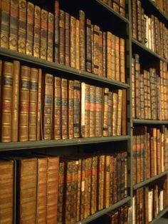 Bookshelves in Codrington Library, All Souls College, Oxford, England