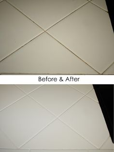 "Use Clorox pen to ""trace"" discolored grout; leave on for at least 5 minutes and wipe clean!"