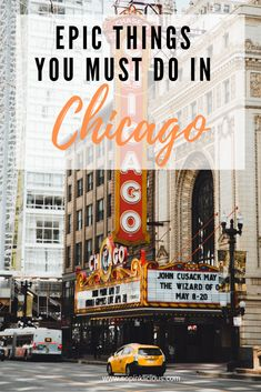 Epic Things You Must Do in Chicago I love Chicago, I love the smell of deep dish pizza. I love munching Garett's Popcorn and I love strolling around the city Chicago Vacation, Chicago Travel, Chicago Trip, Travel Usa, Chicago City, Visit Chicago, Chicago Style, Travel Tips, Winter In Chicago