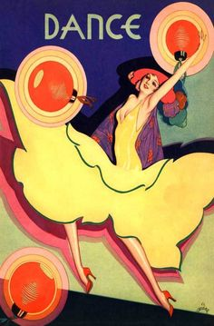 The Dance Magazine art déco cover by Vargas