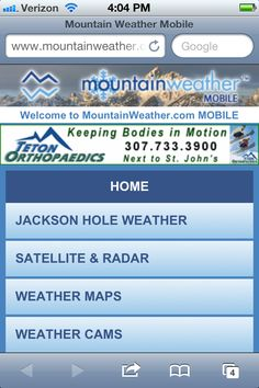 Mountain Weather - mobile website    ----BTW, Please Visit:  http://artcaffeine.imobileappsys.com