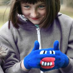 Warmster Blue Monster Gloves - what kid wouldn't LOVE these funky gloves?!