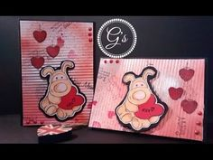 Card Week on G's Creations DIY Tutorial Boofle Amore Valentine Card with Handmade paper 2016