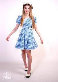 1980s Blue Star Print Cotton Frock from Upstaged Vintage
