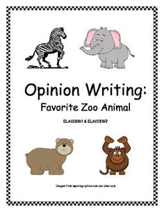 "This activity is connected to CCGPS ELACCKW1: Use a combination of drawing, dictating, and writing to compose opinion pieces in which they tell a reader the topic or the name of the book they are ""writing"" about and state an opinion or preference about the topic or book. - Kindergarten - First Grade - Second Grade - Homeschool - Sherry Clements - $"