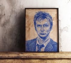 Original Doctor Who Portrait  Last of the time lords  David