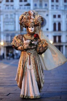 MyVita The Carnival of Venice (Italian: Carnevale di Venezia) is an annual festival, held in Venice, Italy. The Carnival ends with the Christian celebration of Lent, forty days before Easter on Shrove Tuesday (Martedi' Grasso or Mardi Gras), the day befo Venetian Costumes, Venice Carnival Costumes, Venetian Carnival Masks, Carnival Of Venice, Venetian Masquerade, Masquerade Costumes, Masquerade Party, Venice Carnivale, Venice Mask